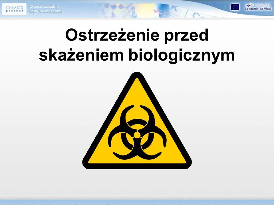 Ostrzeżenie przed skażeniem biologicznym