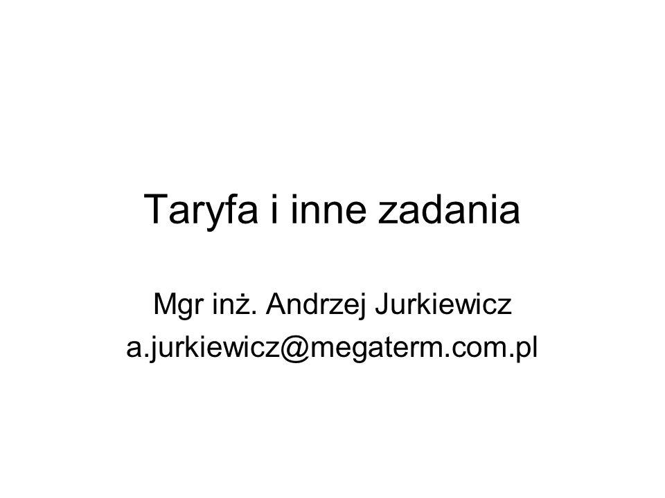 Mgr inż. Andrzej Jurkiewicz a.jurkiewicz@megaterm.com.pl