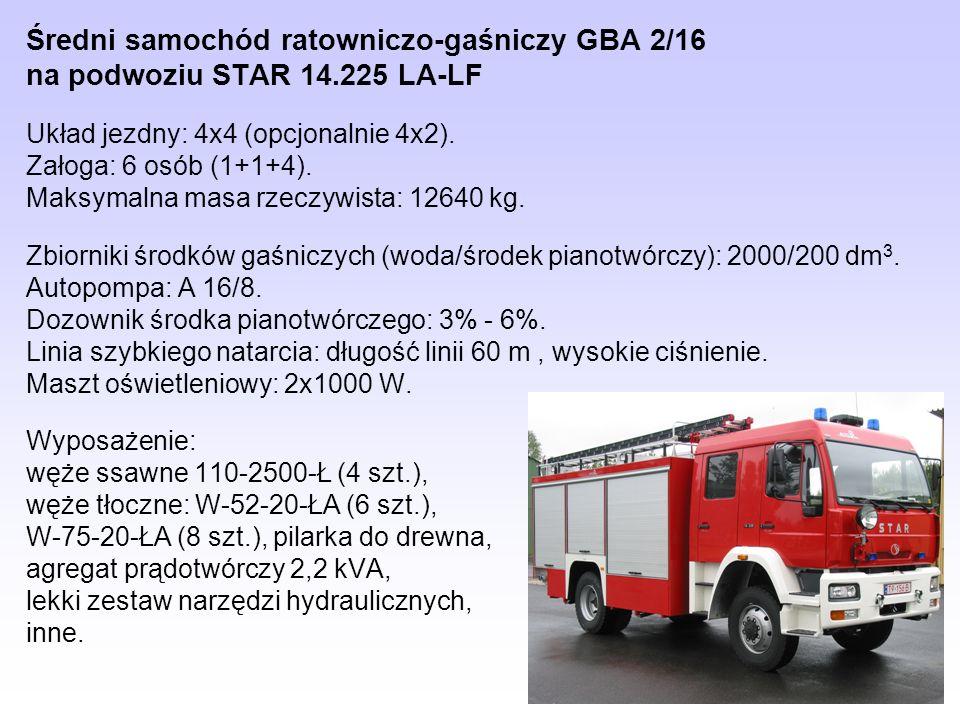 Średni samochód ratowniczo-gaśniczy GBA 2/16 na podwoziu STAR 14