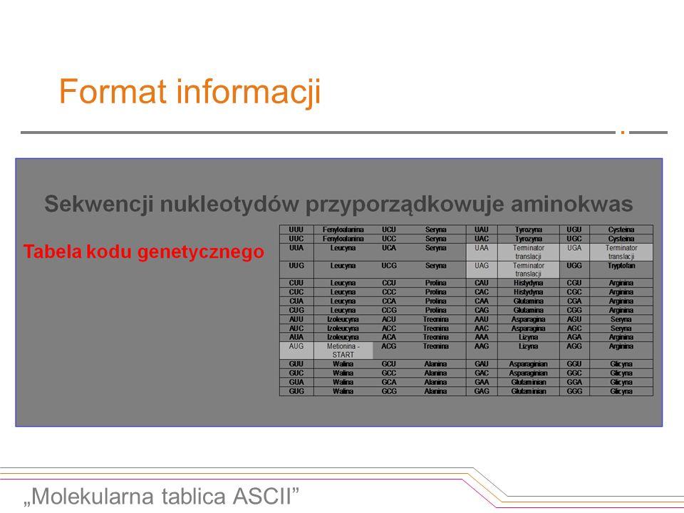 """Format informacji """"Molekularna tablica ASCII"""