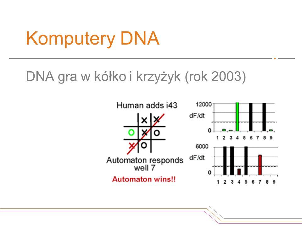 Komputery DNA DNA gra w kółko i krzyżyk (rok 2003)