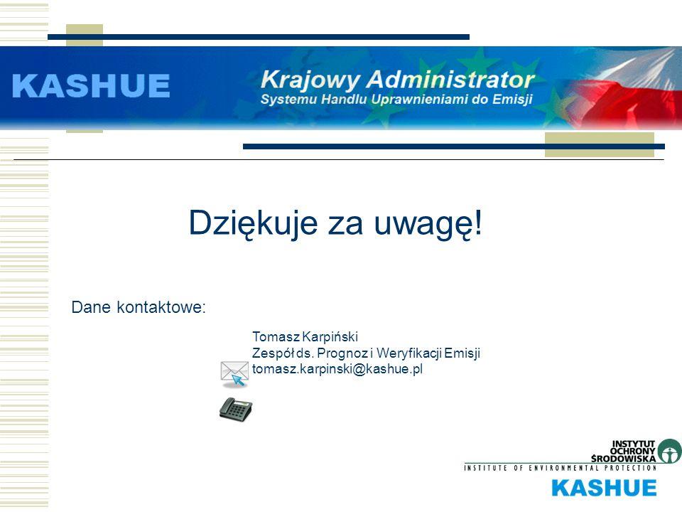 Dziękuje za uwagę! Dane kontaktowe: Tomasz Karpiński
