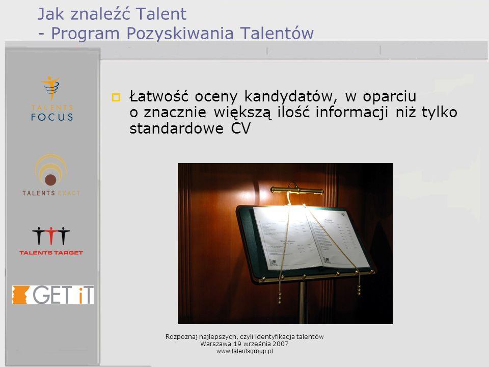 Jak znaleźć Talent - Program Pozyskiwania Talentów