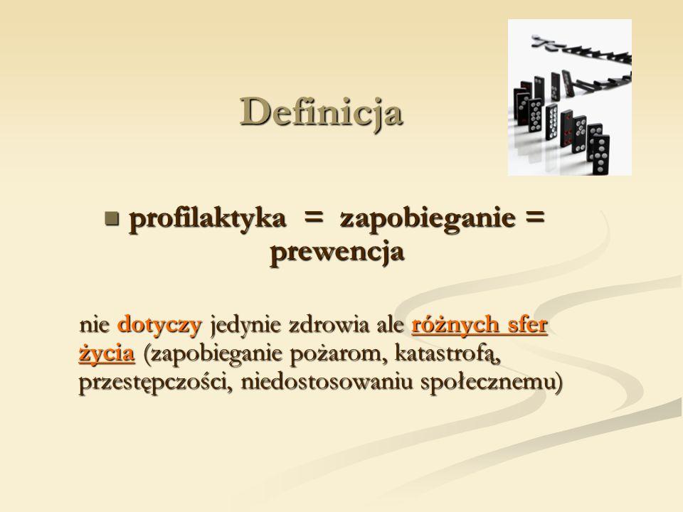 profilaktyka = zapobieganie = prewencja