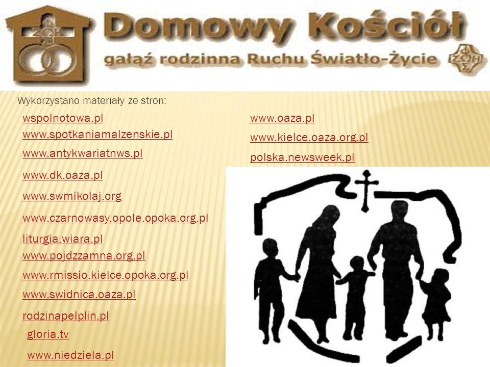 wspolnotowa.pl www.oaza.pl www.spotkaniamalzenskie.pl