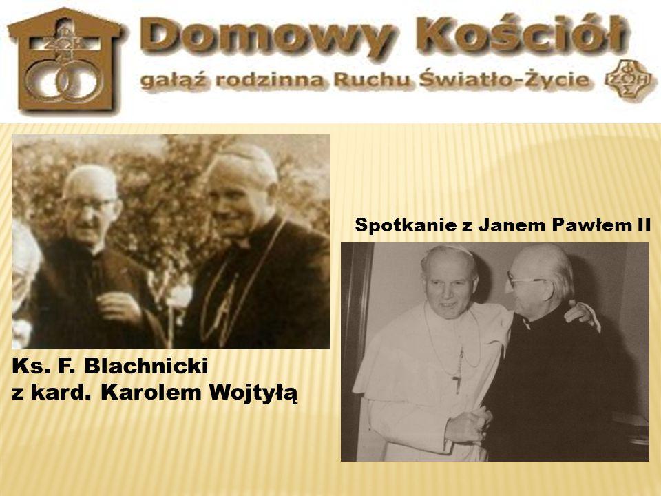 Ks. F. Blachnicki z kard. Karolem Wojtyłą