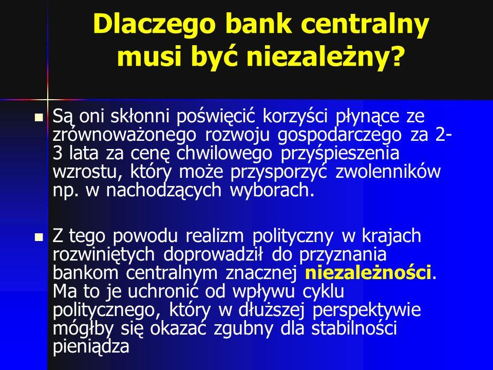 Dlaczego bank centralny musi być niezależny