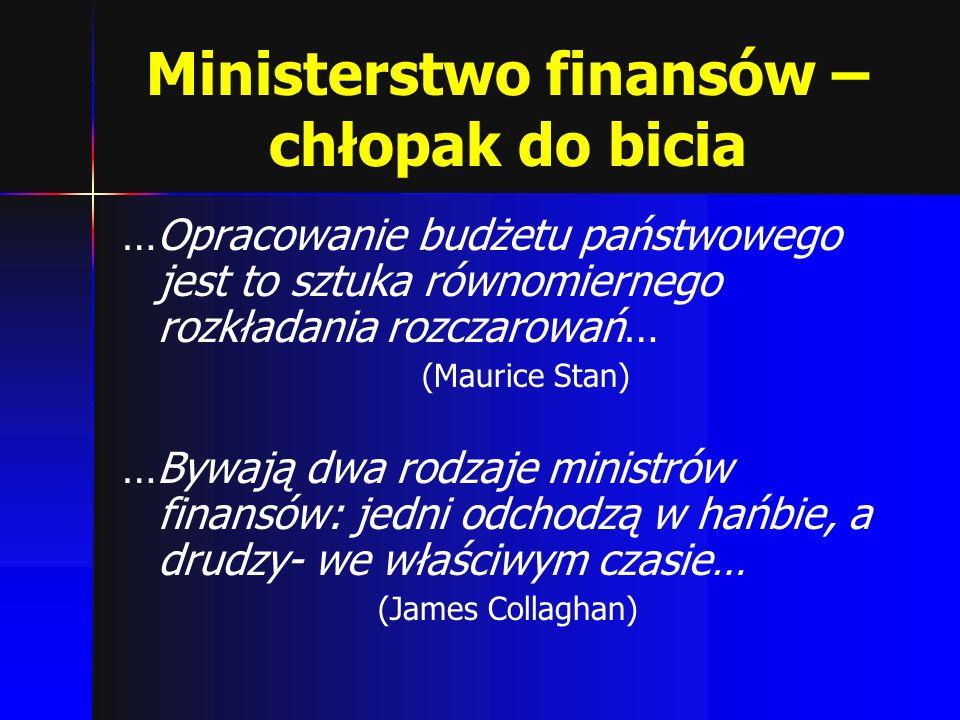Ministerstwo finansów – chłopak do bicia