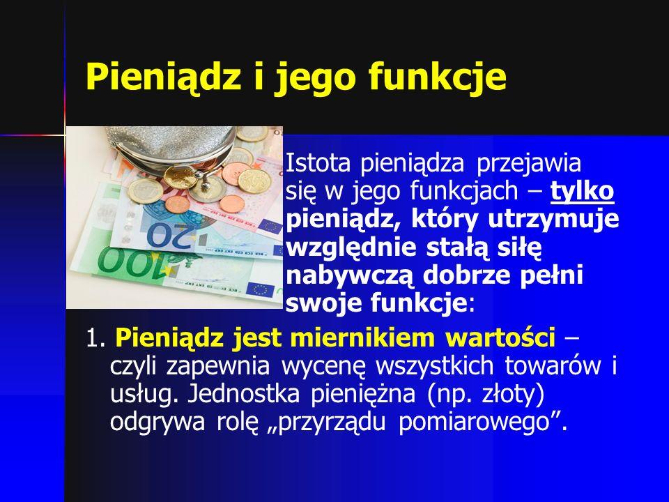 Pieniądz i jego funkcje
