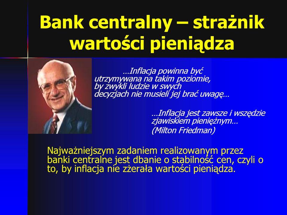 Bank centralny – strażnik wartości pieniądza