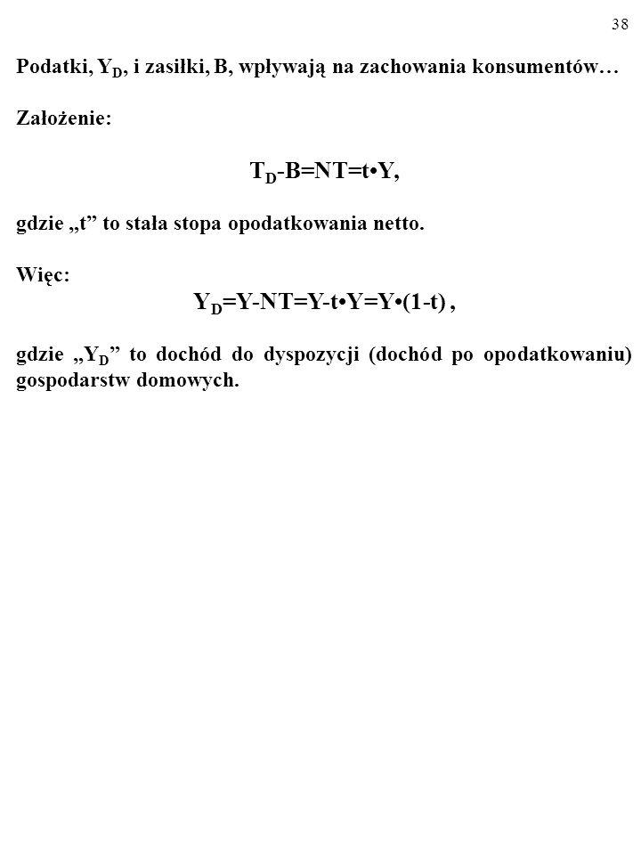 YD=Y-NT=Y-t•Y=Y•(1-t) ,
