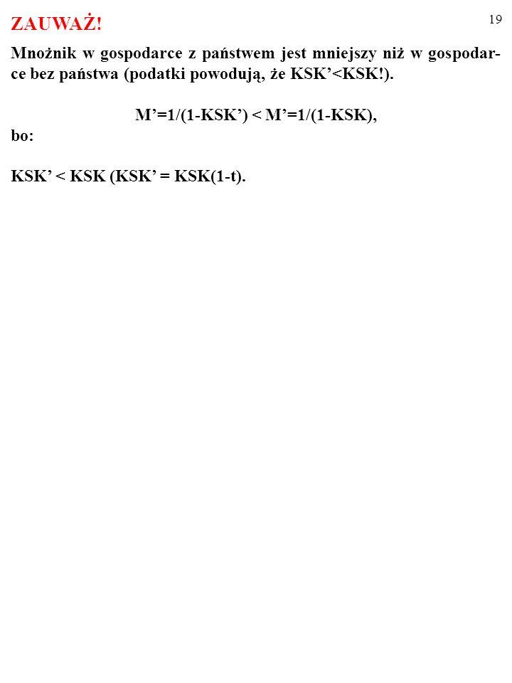 M'=1/(1-KSK') < M'=1/(1-KSK),