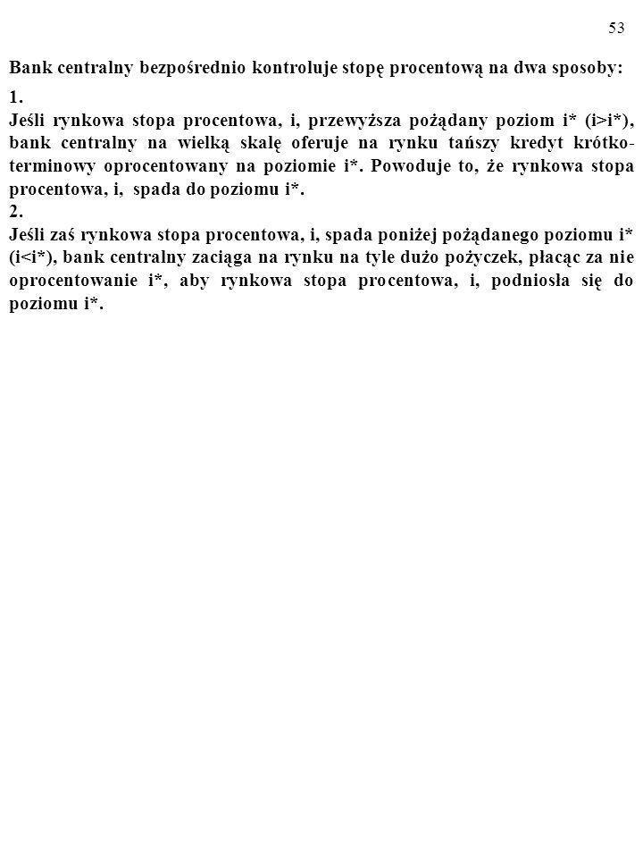 Bank centralny bezpośrednio kontroluje stopę procentową na dwa sposoby: