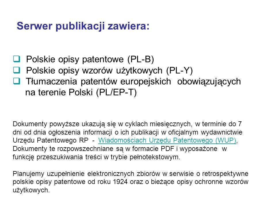 Serwer publikacji zawiera: