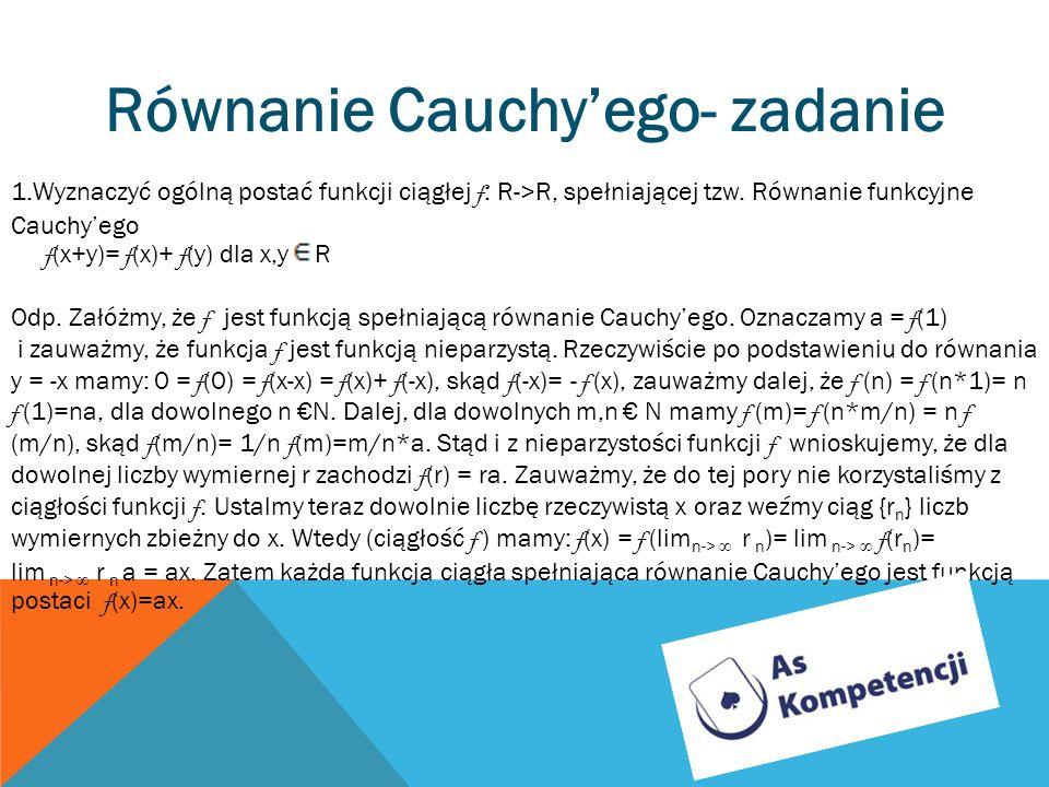 Równanie Cauchy'ego- zadanie
