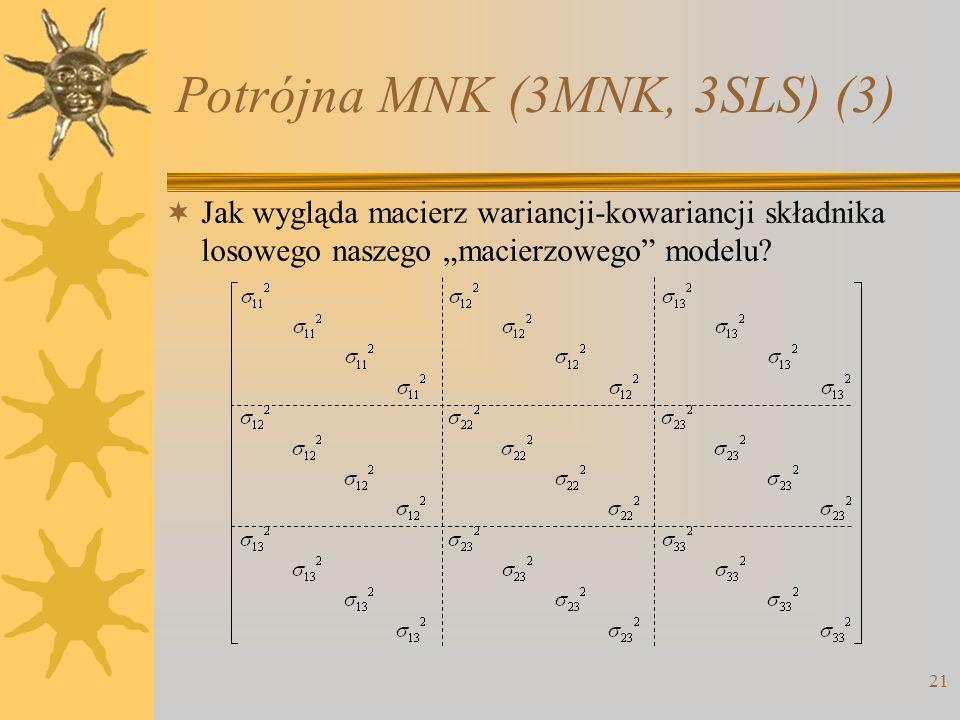 Potrójna MNK (3MNK, 3SLS) (3)