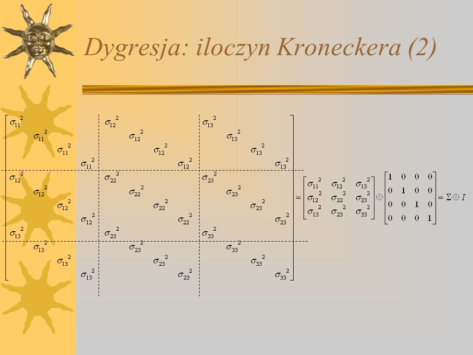 Dygresja: iloczyn Kroneckera (2)