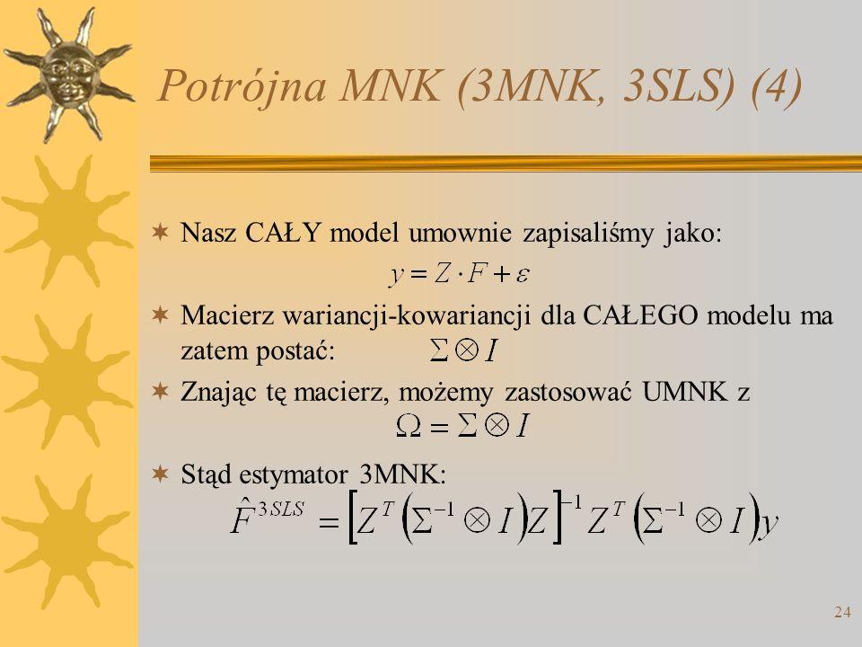 Potrójna MNK (3MNK, 3SLS) (4)