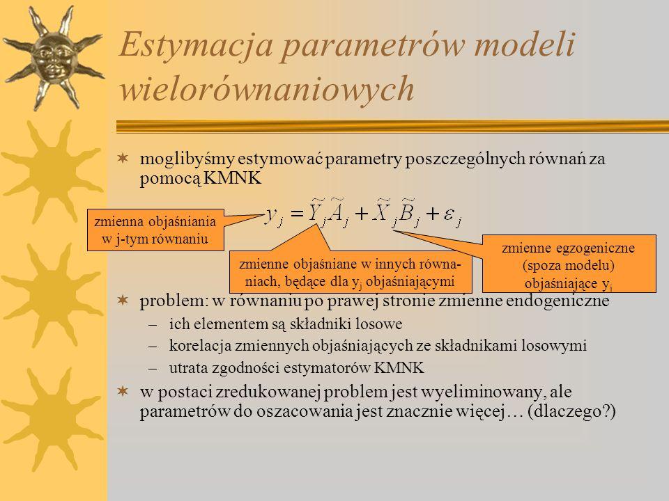 Estymacja parametrów modeli wielorównaniowych