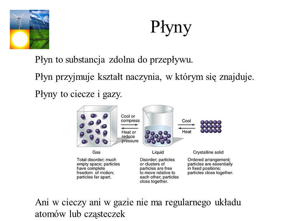 Płyny Płyn to substancja zdolna do przepływu.