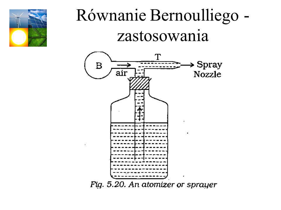 Równanie Bernoulliego - zastosowania