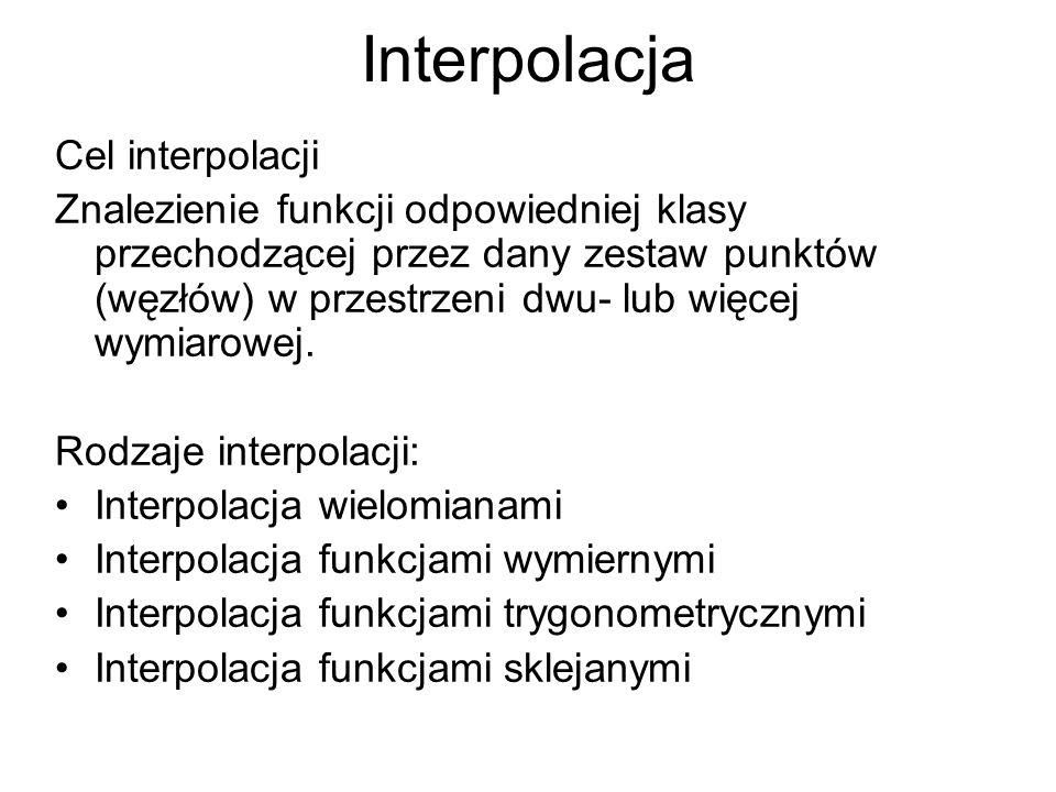Interpolacja Cel interpolacji