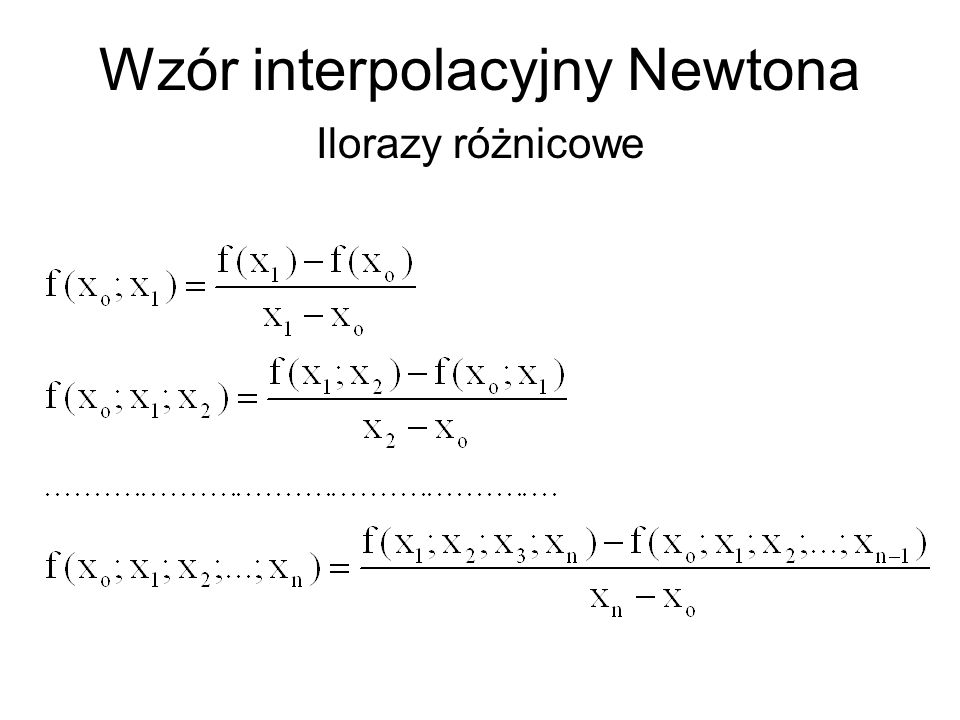 Wzór interpolacyjny Newtona