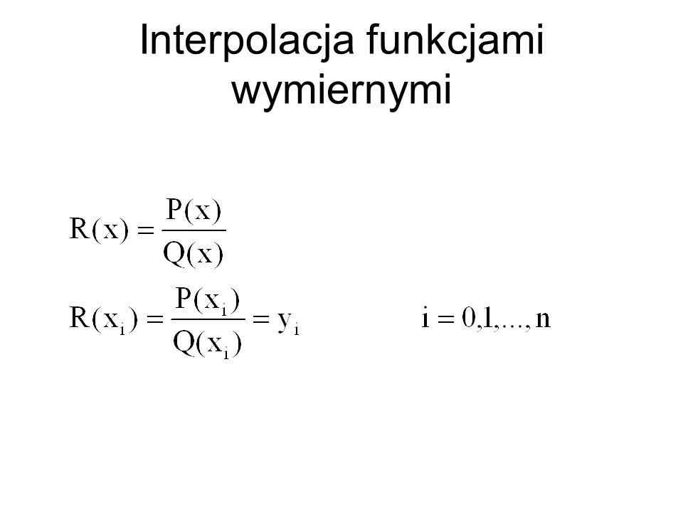 Interpolacja funkcjami wymiernymi