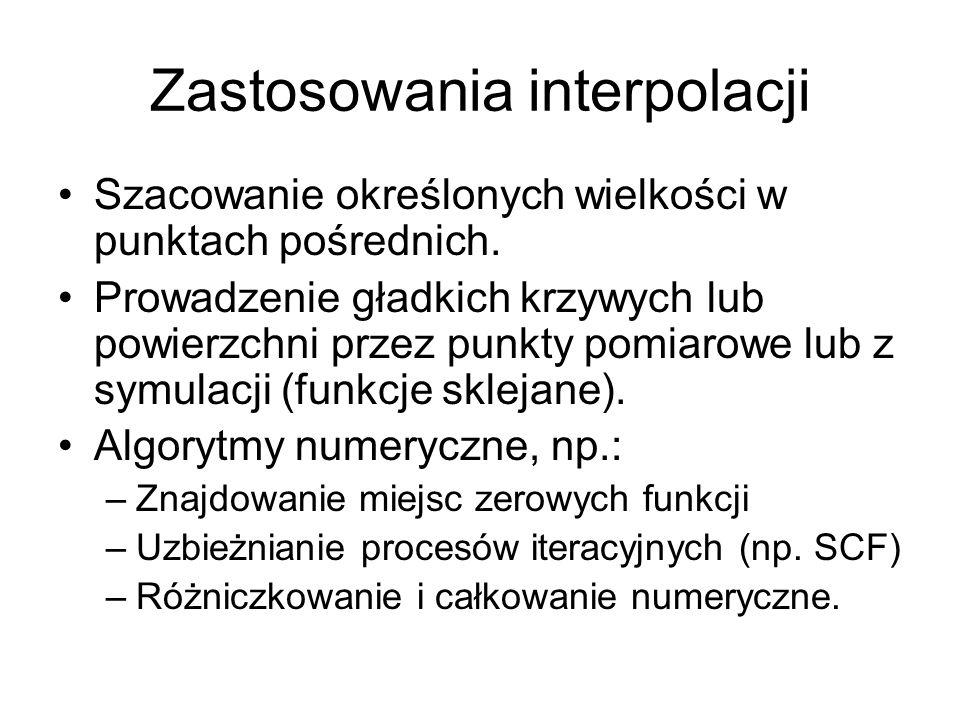 Zastosowania interpolacji