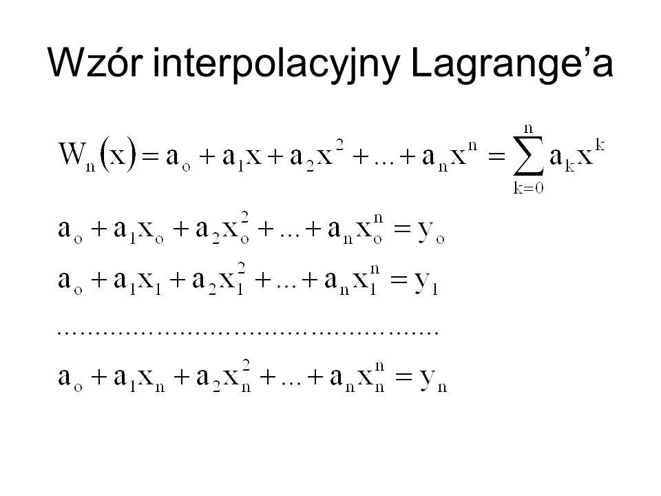 Wzór interpolacyjny Lagrange'a