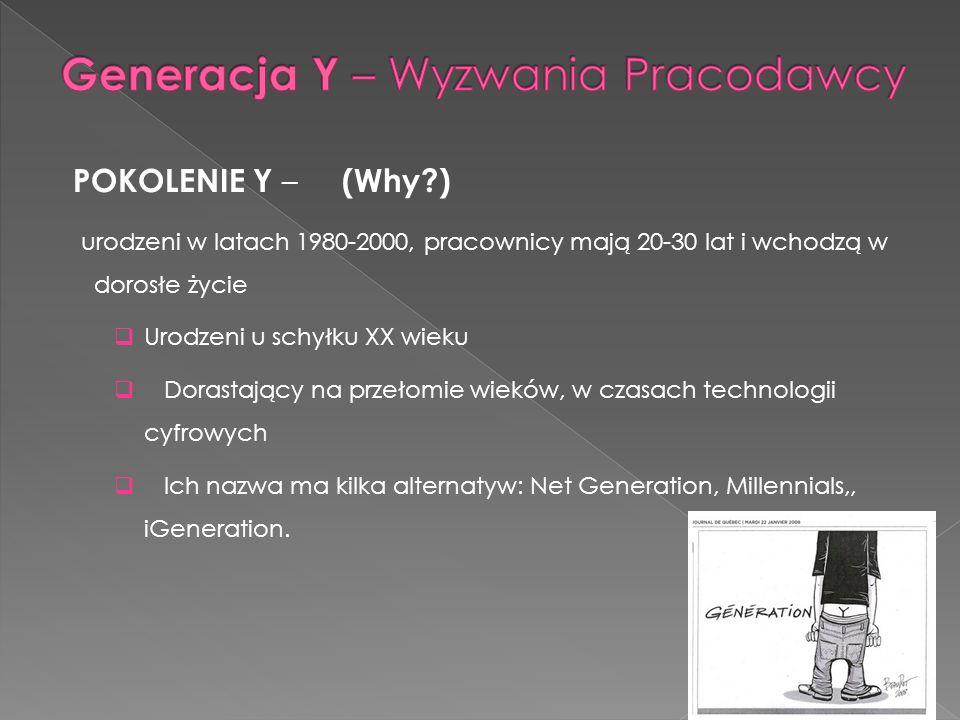 Generacja Y – Wyzwania Pracodawcy