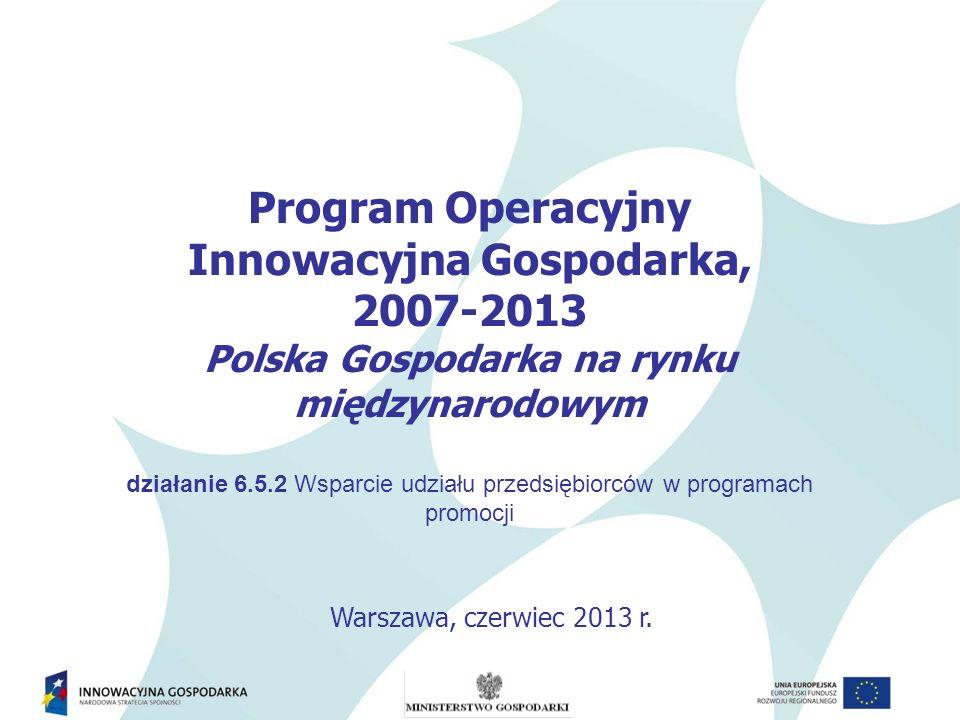 Innowacyjna Gospodarka, Polska Gospodarka na rynku międzynarodowym
