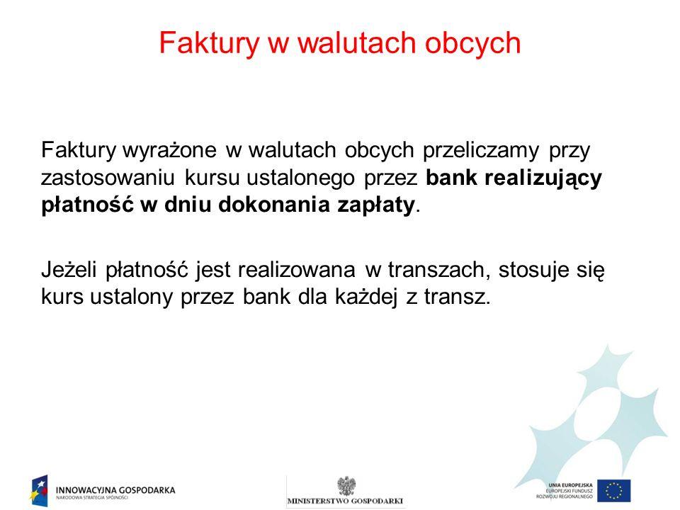 Faktury w walutach obcych