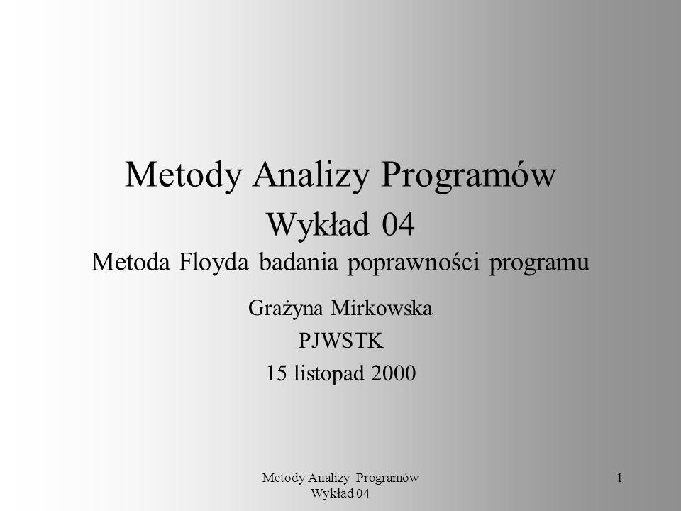 Grażyna Mirkowska PJWSTK 15 listopad 2000