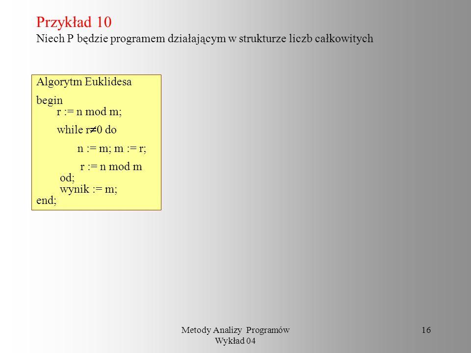 Metody Analizy Programów Wykład 04