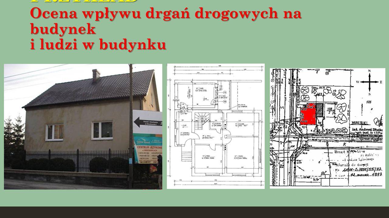 PRZYKŁAD Ocena wpływu drgań drogowych na budynek i ludzi w budynku