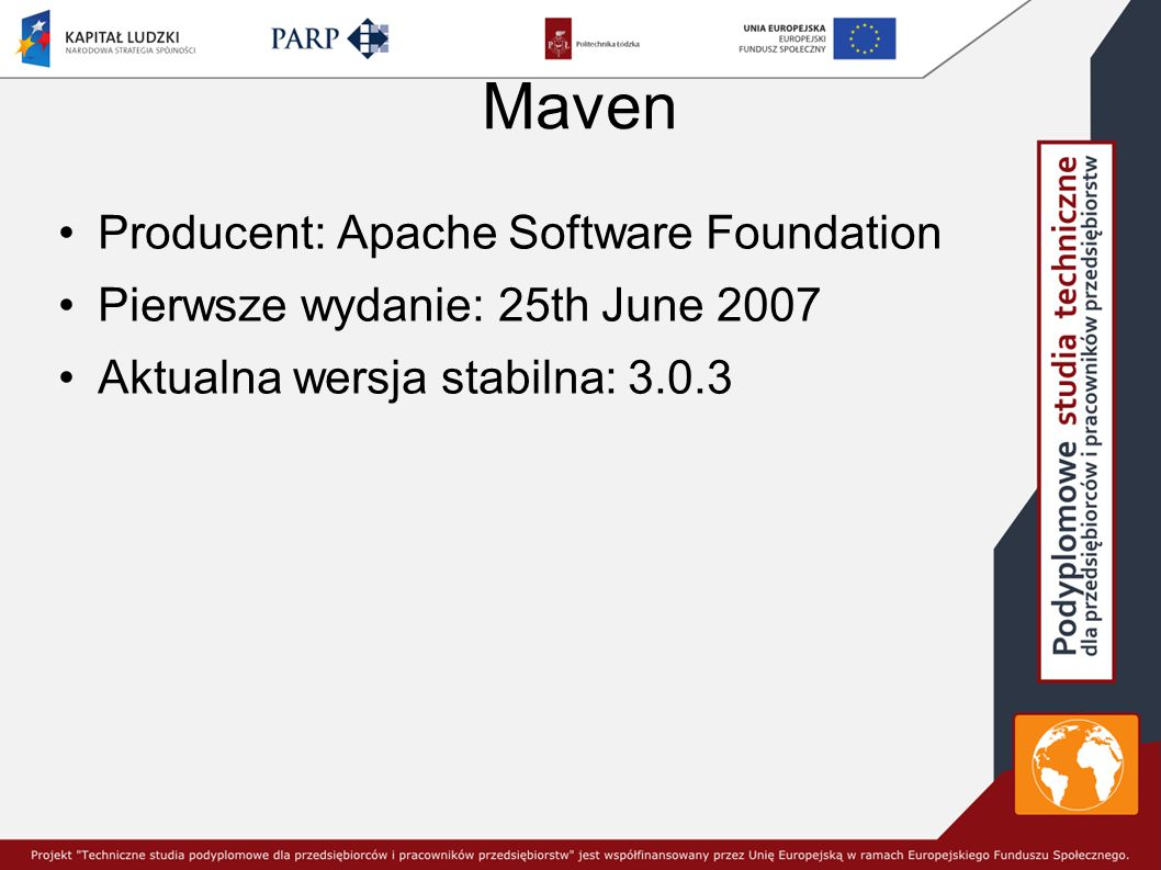 Maven Producent: Apache Software Foundation