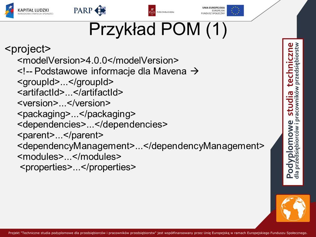 Przykład POM (1) <project>