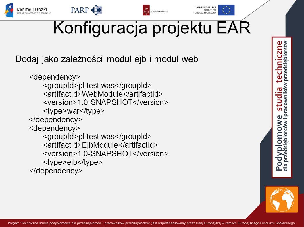 Konfiguracja projektu EAR