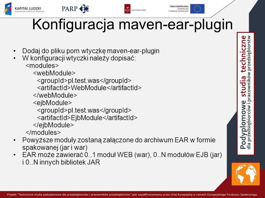 Konfiguracja maven-ear-plugin