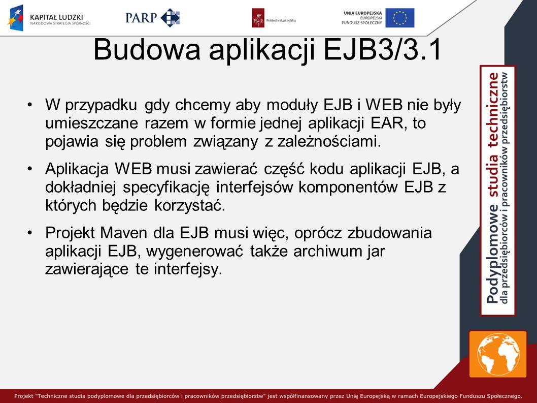 Budowa aplikacji EJB3/3.1