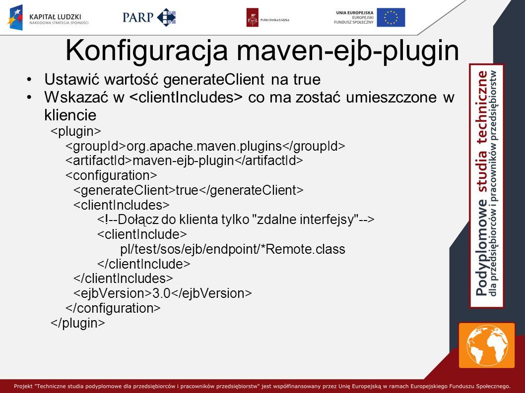 Konfiguracja maven-ejb-plugin
