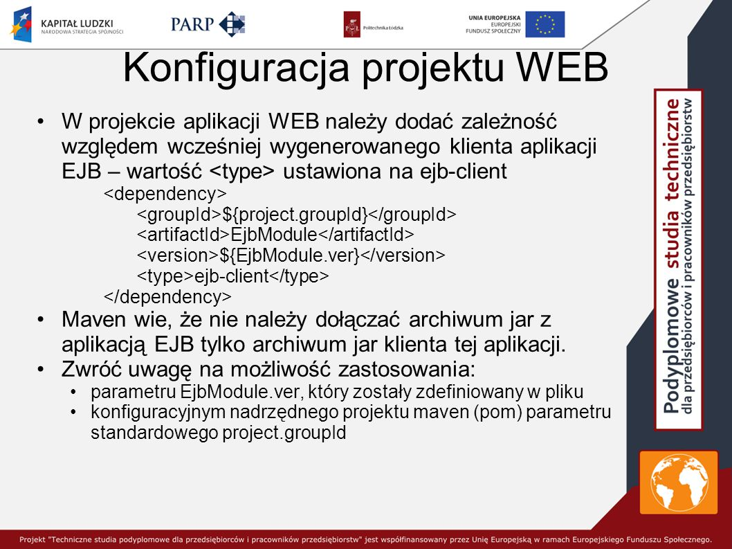 Konfiguracja projektu WEB