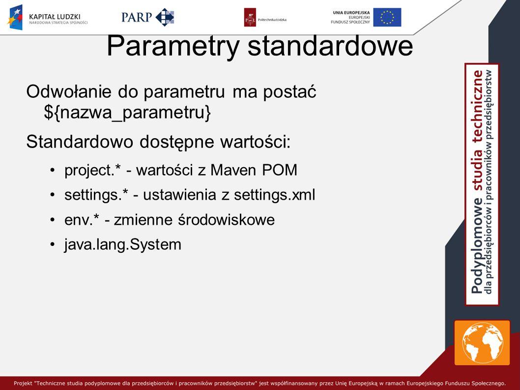 Parametry standardowe
