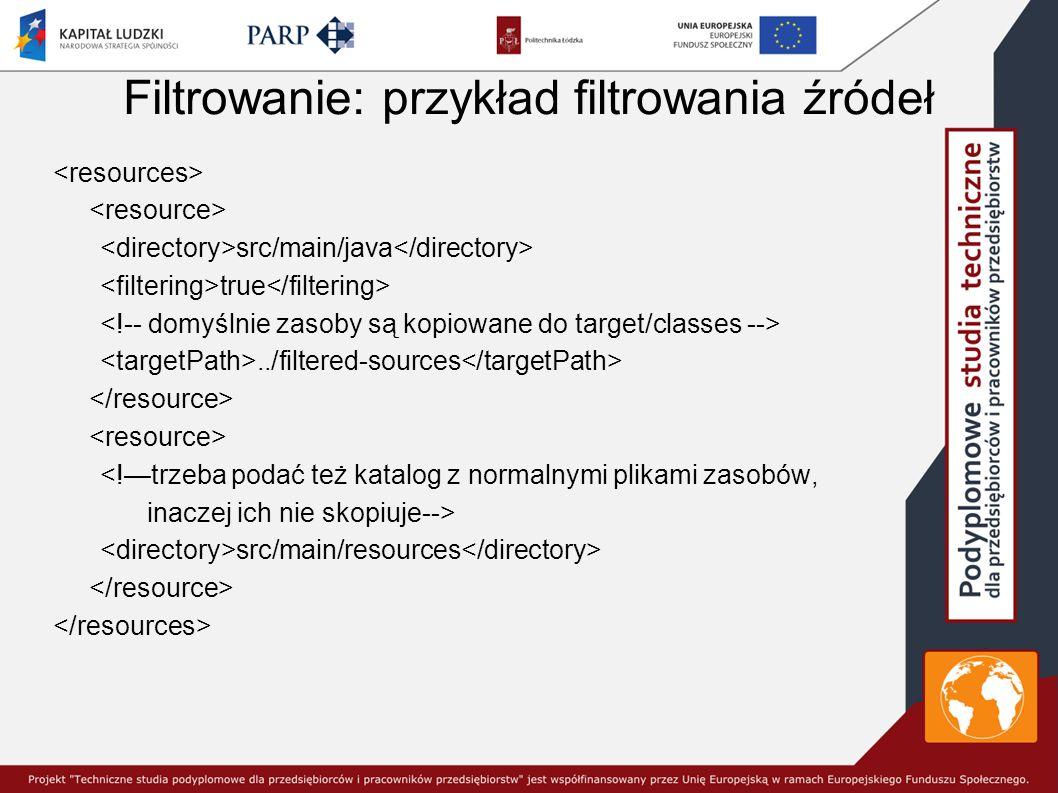 Filtrowanie: przykład filtrowania źródeł