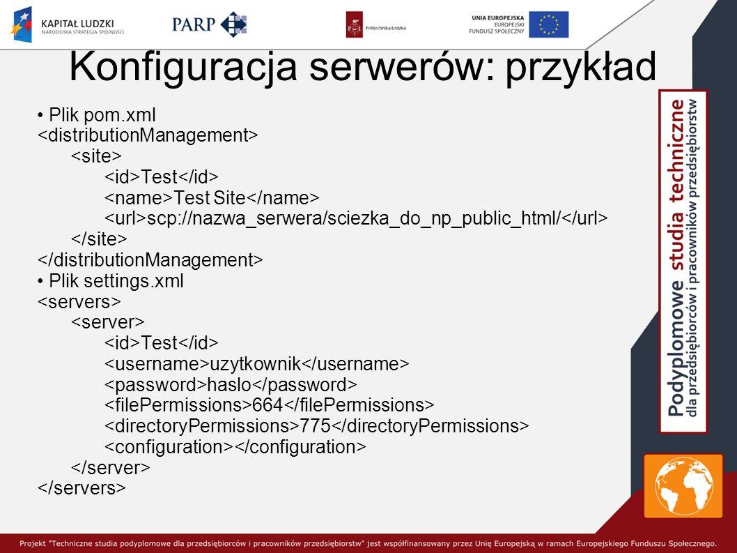 Konfiguracja serwerów: przykład