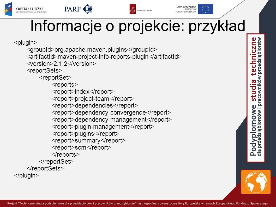 Informacje o projekcie: przykład