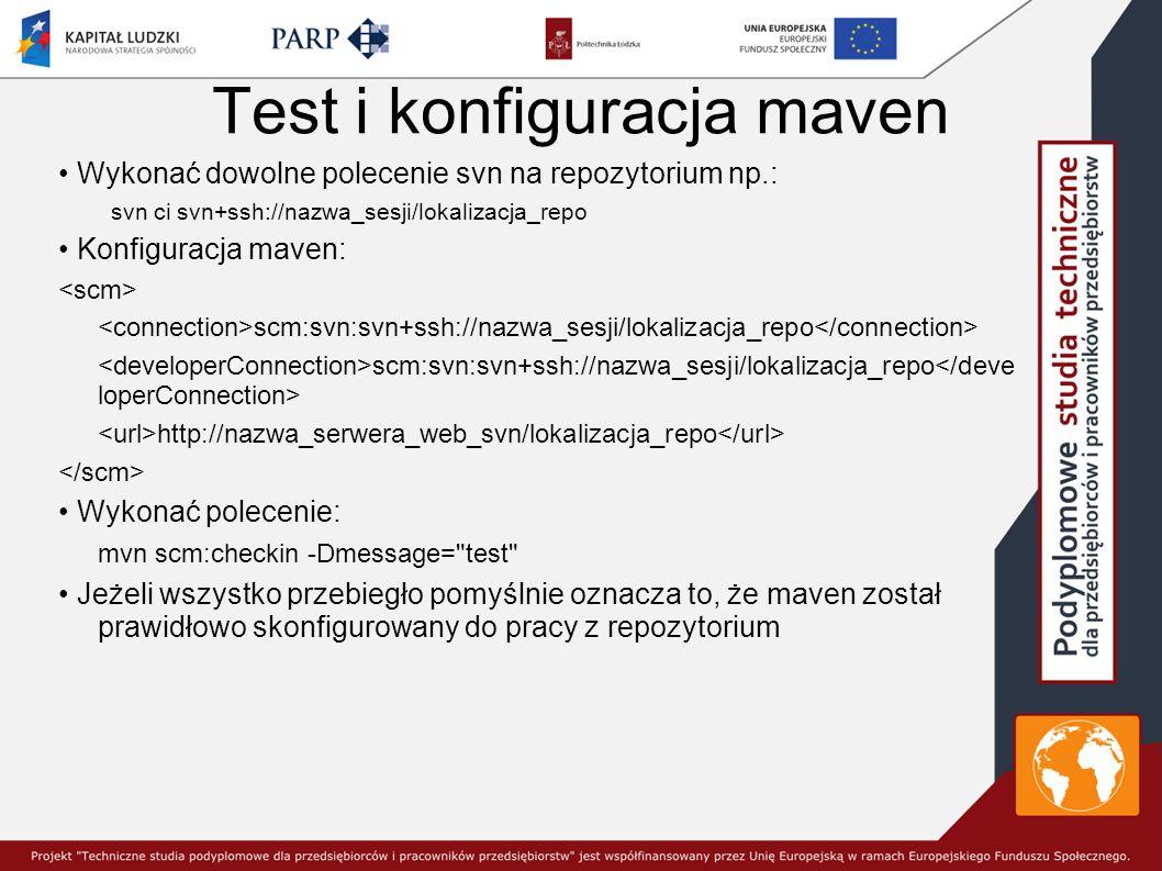 Test i konfiguracja maven