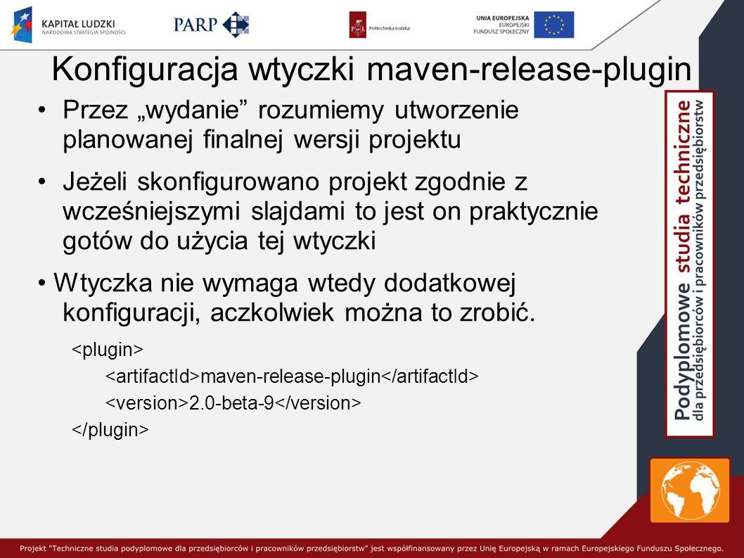 Konfiguracja wtyczki maven-release-plugin