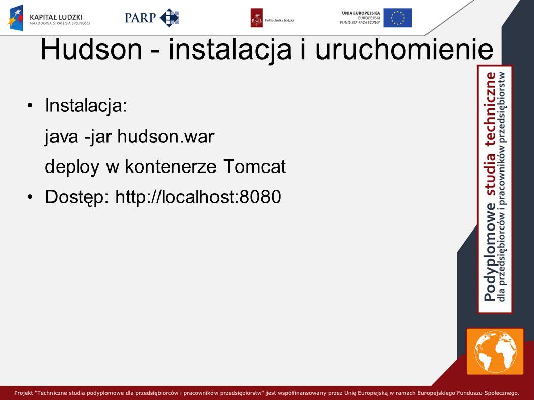 Hudson - instalacja i uruchomienie